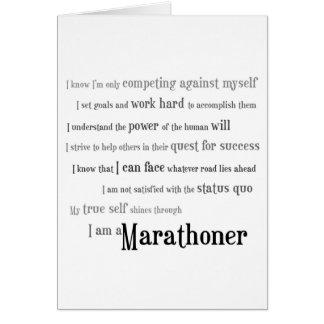 Ik ben een Goed Geluk Marathoner Wenskaart