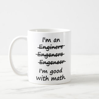 Ik ben een Ingenieur ik bij Wiskunde Goed ben Koffiemok