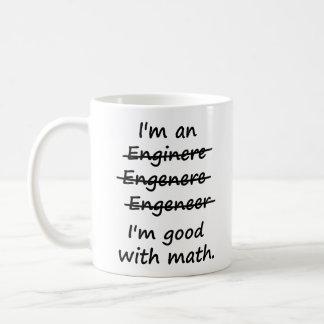 Ik ben een Ingenieur ik bij Wiskunde Goed ben Basic Witte Mok