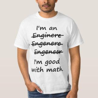 Ik ben een Ingenieur ik bij Wiskunde Goed ben T Shirt