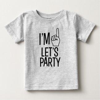 Ik ben één laten we overhemd van de het babyjongen baby t shirts