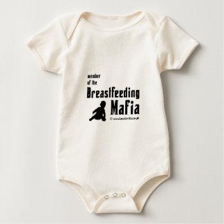 Ik ben een lid van de de borst gevende maffia baby shirt