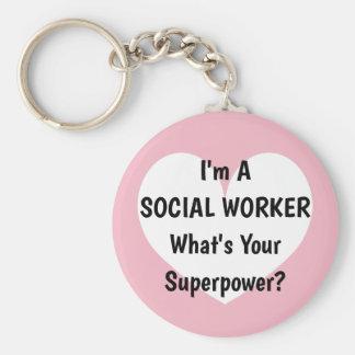 Ik ben een maatschappelijk werker wat uw sleutelhanger