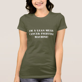Ik ben een magere gemiddelde kanker het vechten t shirt