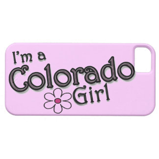Ik ben een Meisje van Colorado, Bloem, Roze iPhone Barely There iPhone 5 Hoesje