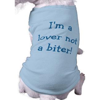 Ik ben een Minnaar niet een Biter (Blauw) Overhemd T-shirt