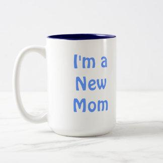 Ik ben een Nieuw Mamma. Blauw Tweekleurige Koffiemok