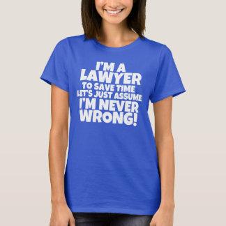 Ik ben een overhemd van de Vrouwen van de Advocaat T Shirt