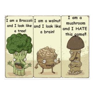 Ik ben een paddestoel briefkaart