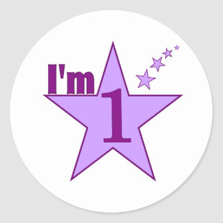 Ik ben één (partij van de meisjes de 1st verjaarda ronde sticker