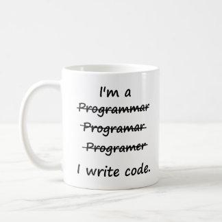 Ik ben een Programmeur ik Code Slechte Speller Koffiemok