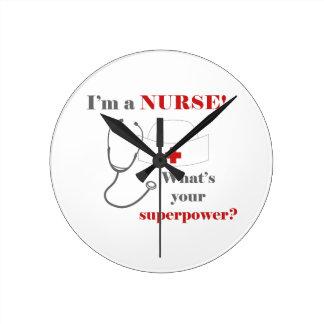 Ik ben een Verpleegster, wat uw grootmacht is Ronde Klok