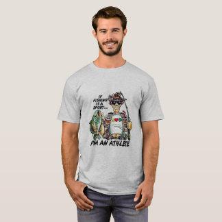 Ik ben een Vissende Atleet T Shirt