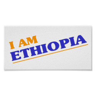 Ik ben Ethiopië Poster