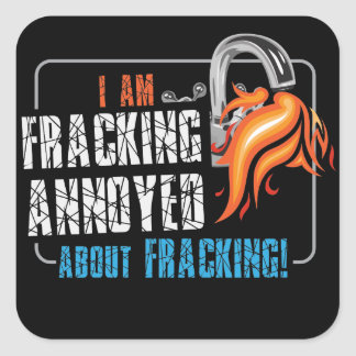 Ik ben Fracking over Sticker die Fracking wordt