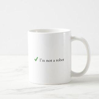 Ik ben geen Controle Captcha van de Humor van de Koffiemok