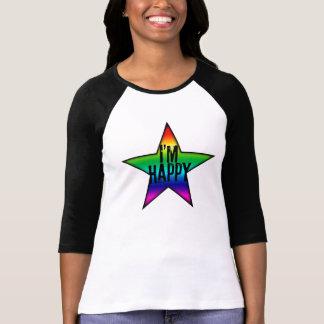 Ik ben het Gelukkige Vrolijke en Lesbische T-shirt