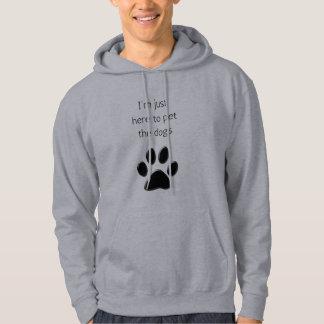Ik ben hier aan de Honden van het Huisdier Hoodie