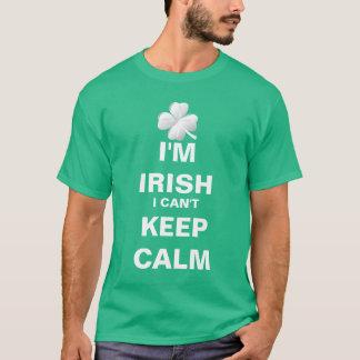 Ik ben Iers ik kan niet Kalm houden T Shirt