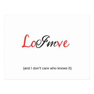 Ik ben in liefde (en ik geef wie niet het briefkaart
