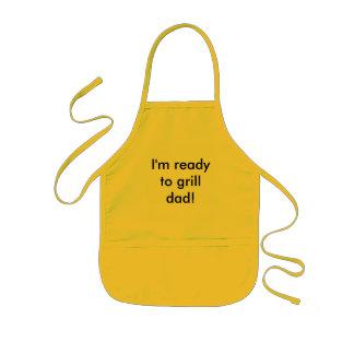 Ik ben klaar aan grillpapa! kinder schort