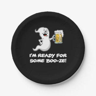 Ik ben Klaar voor Wat Grappig Spook en Bier van de Papieren Bordje