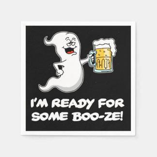 Ik ben Klaar voor Wat Grappig Spook en Bier van de Wegwerp Servet