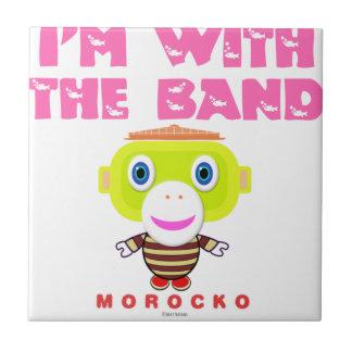 Ik ben met Band-Leuke aap-Morocko Tegeltje