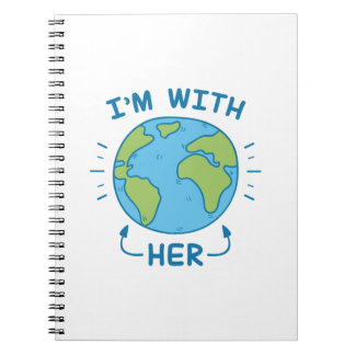 Ik ben met haar notitieboek