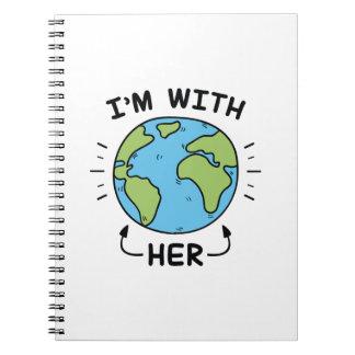 Ik ben met haar ringband notitieboek