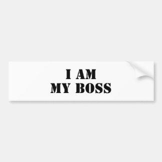 Ik ben Mijn Werkgever. Slogan Bumpersticker