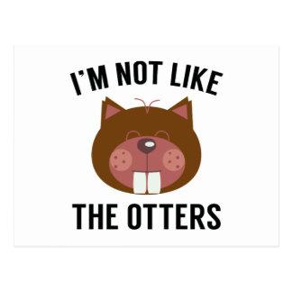 Ik ben niet als de Otters Briefkaart