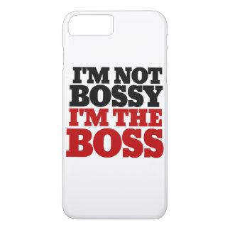 Ik ben niet bazig ik ben de werkgever iPhone 7 plus hoesje