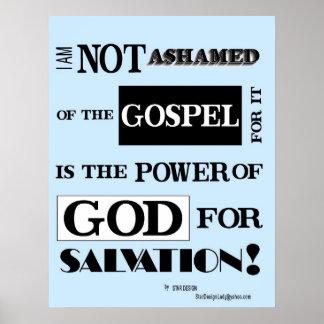 Ik ben niet beschaamd van het evangelie, poster