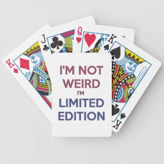 Ik ben niet Bizar ik ben de Beperkte Humor van de Poker Kaarten