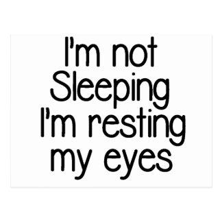 Ik ben niet grappig slapen briefkaart