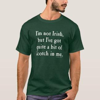 Ik ben niet Iers - Grappige (Witte) Schotse whisky T Shirt