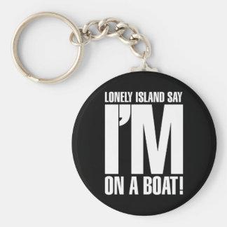 Ik ben op een Boot Sleutelhanger