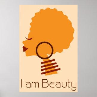 Ik ben Poster van het Haar van de Schoonheid het N