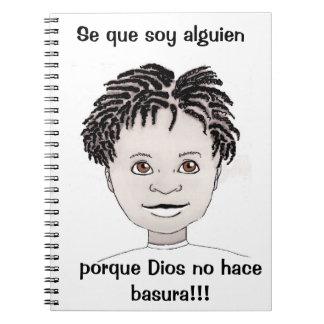 """""""ik ben Somebody"""" Dagboek (het Spaans van de Ringband Notitieboek"""