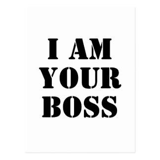 Ik ben Uw Werkgever. Douane Briefkaart