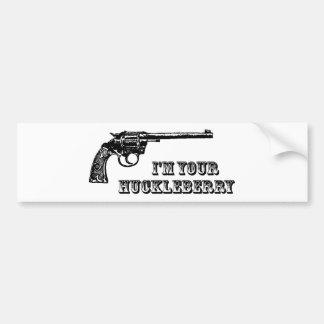 Ik ben Uw Western Pistool van de Bosbes Bumpersticker
