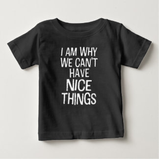 Ik ben waarom wij geen aardig de jongensoverhemd baby t shirts
