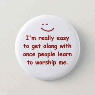 Ik ben werkelijk gemakkelijk om te krijgen samen ronde button 5,7 cm
