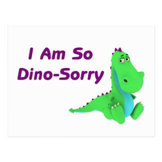 Ik ben zo Dino Sorry Dinosaur Briefkaart