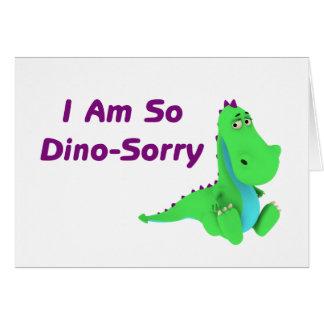 Ik ben zo Dino Sorry Dinosaur Wenskaart