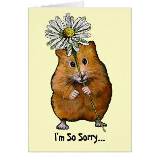 Ik ben zo Droevige, Leuke Hamster met Grote Daisy, Briefkaarten 0