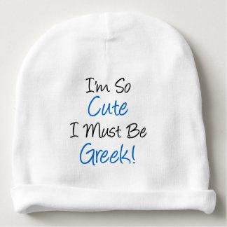 Ik ben zo Leuk ik moet het Griekse Pet van het Baby Mutsje