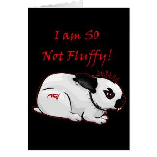 Ik ben ZO niet Pluizig! (konijntje) Kaart