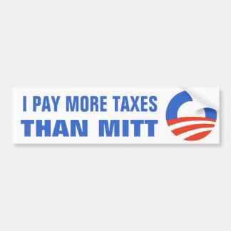 Ik betaal Meer Belastingen dan Mitt Obama 2012 47  Bumpersticker